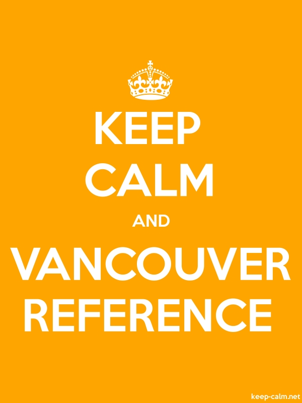 KEEP CALM AND VANCOUVER REFERENCE - white/orange - Default (600x800)