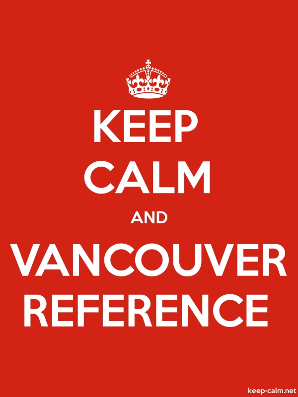 KEEP CALM AND VANCOUVER REFERENCE - white/red - Default (600x800)