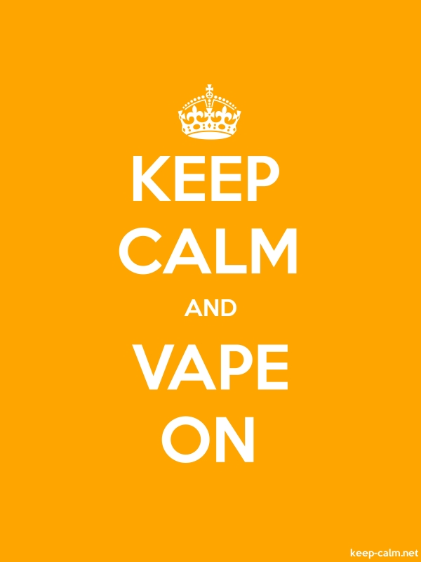 KEEP CALM AND VAPE ON - white/orange - Default (600x800)
