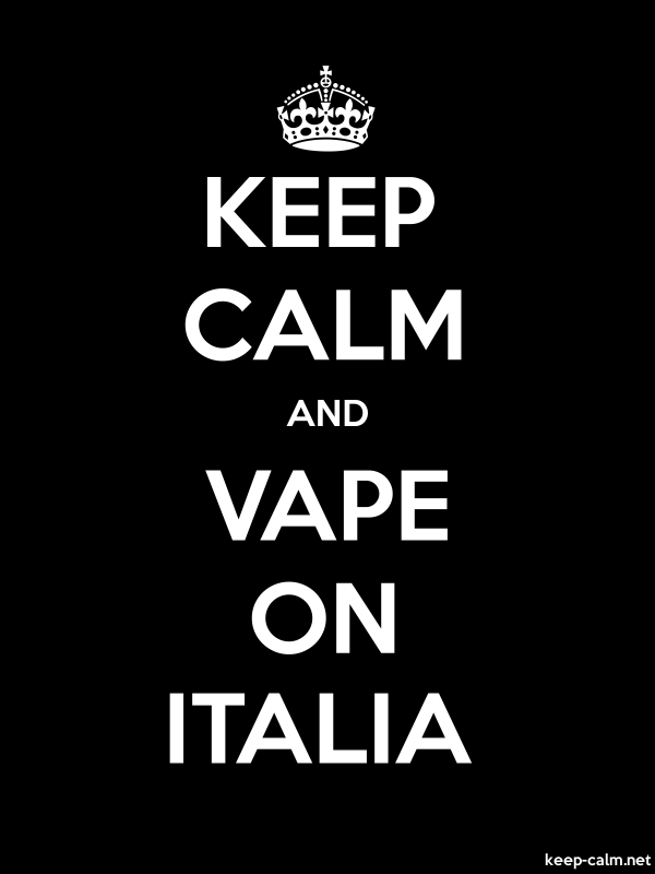 KEEP CALM AND VAPE ON ITALIA - white/black - Default (600x800)