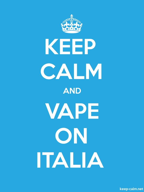 KEEP CALM AND VAPE ON ITALIA - white/blue - Default (600x800)