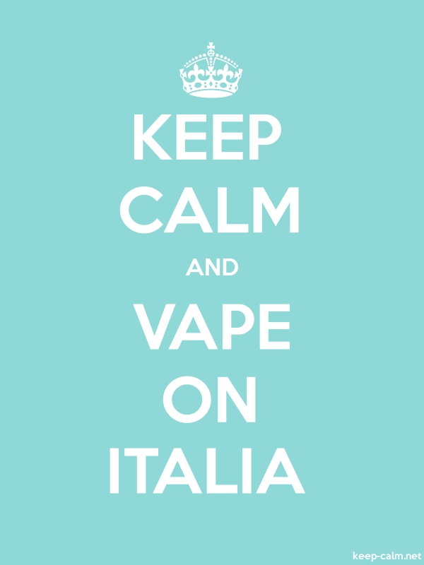 KEEP CALM AND VAPE ON ITALIA - white/lightblue - Default (600x800)
