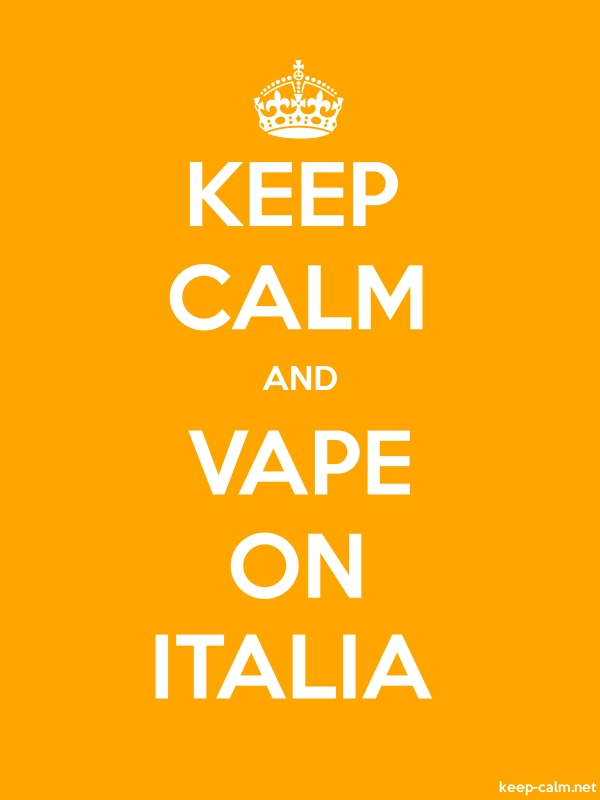 KEEP CALM AND VAPE ON ITALIA - white/orange - Default (600x800)