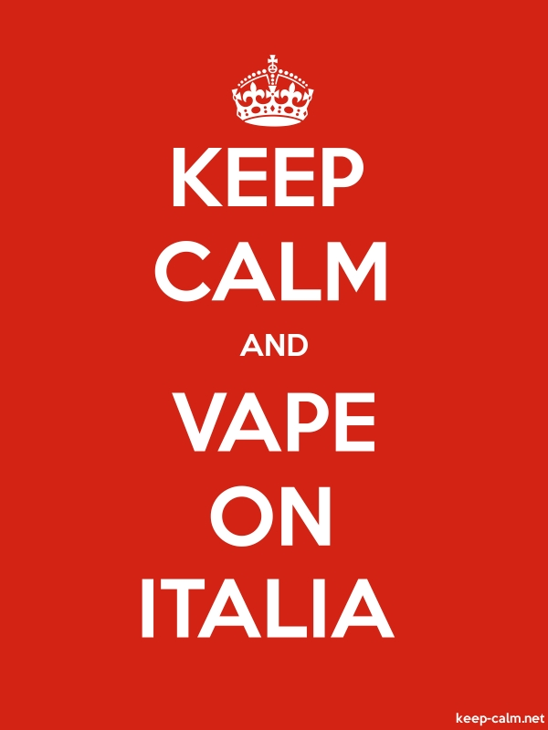 KEEP CALM AND VAPE ON ITALIA - white/red - Default (600x800)