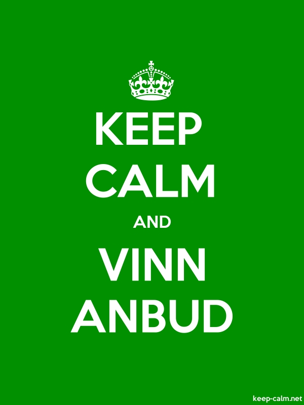 KEEP CALM AND VINN ANBUD - white/green - Default (600x800)