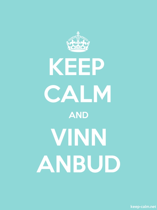 KEEP CALM AND VINN ANBUD - white/lightblue - Default (600x800)