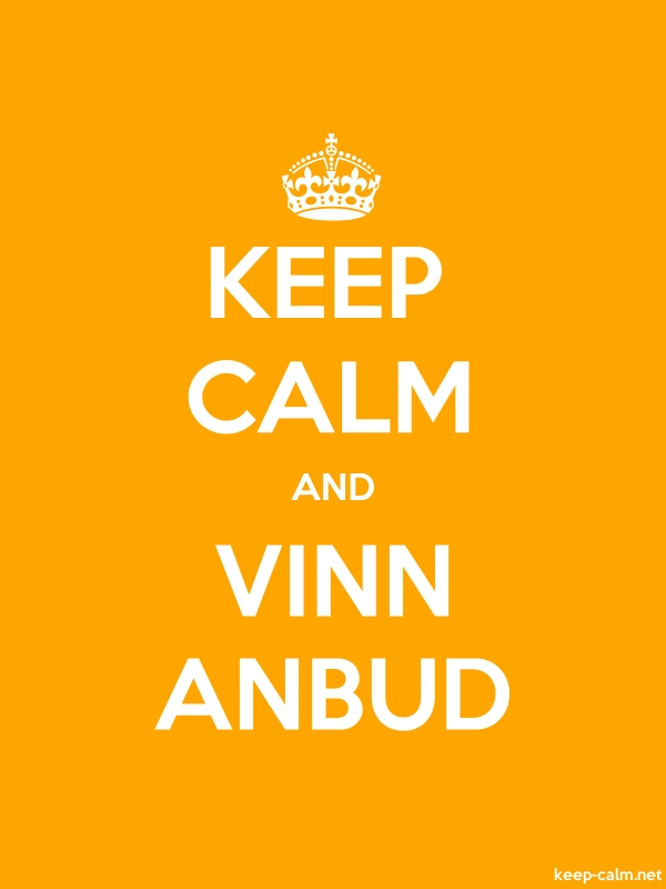 KEEP CALM AND VINN ANBUD - white/orange - Default (600x800)