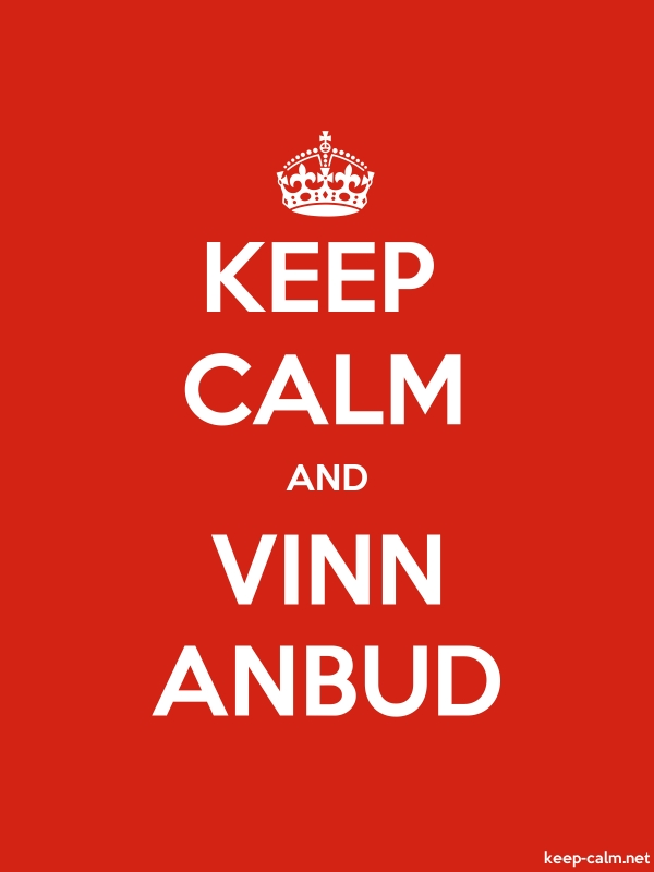 KEEP CALM AND VINN ANBUD - white/red - Default (600x800)