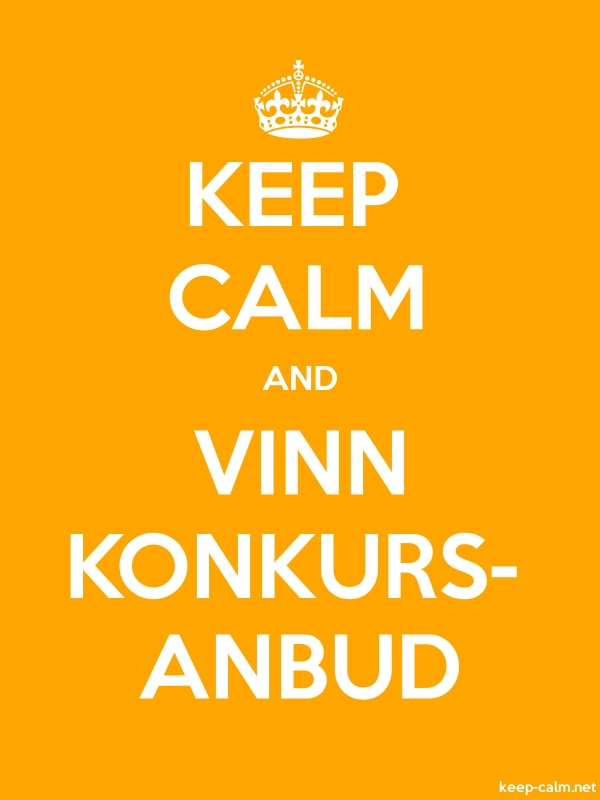KEEP CALM AND VINN KONKURS- ANBUD - white/orange - Default (600x800)