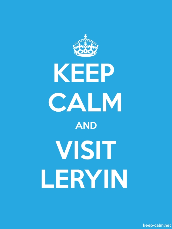 KEEP CALM AND VISIT LERYIN - white/blue - Default (600x800)
