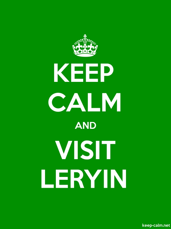 KEEP CALM AND VISIT LERYIN - white/green - Default (600x800)