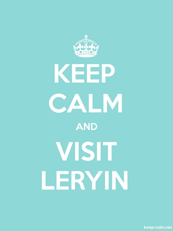 KEEP CALM AND VISIT LERYIN - white/lightblue - Default (600x800)
