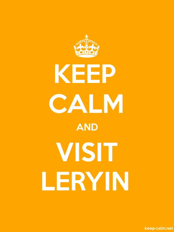 KEEP CALM AND VISIT LERYIN - white/orange - Default (600x800)