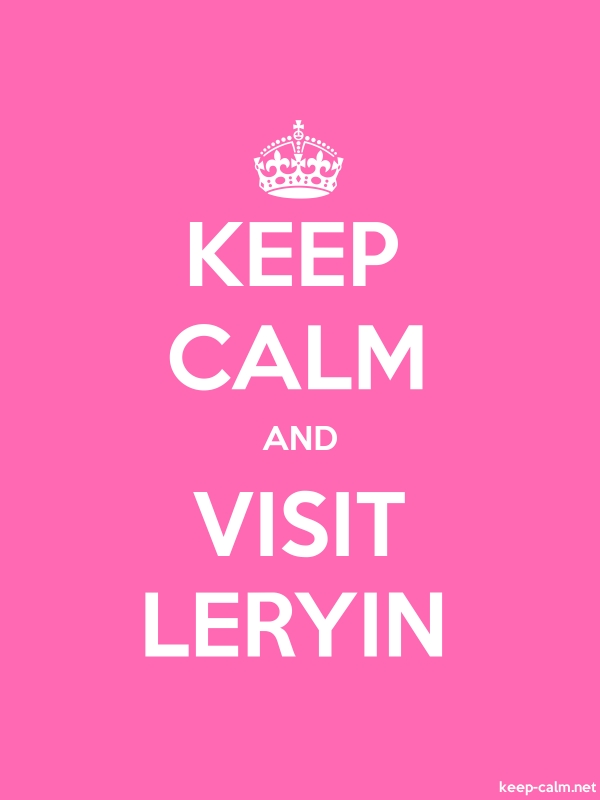 KEEP CALM AND VISIT LERYIN - white/pink - Default (600x800)