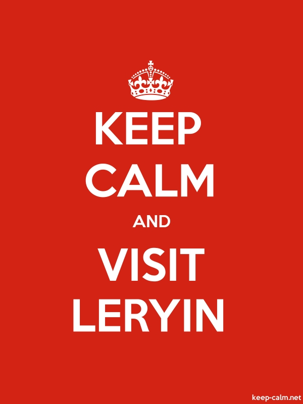 KEEP CALM AND VISIT LERYIN - white/red - Default (600x800)