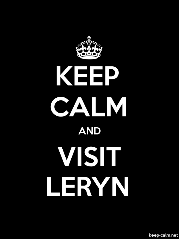 KEEP CALM AND VISIT LERYN - white/black - Default (600x800)