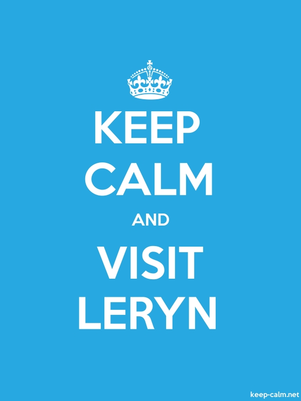 KEEP CALM AND VISIT LERYN - white/blue - Default (600x800)