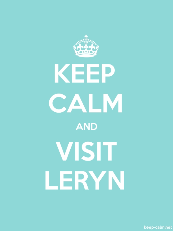 KEEP CALM AND VISIT LERYN - white/lightblue - Default (600x800)