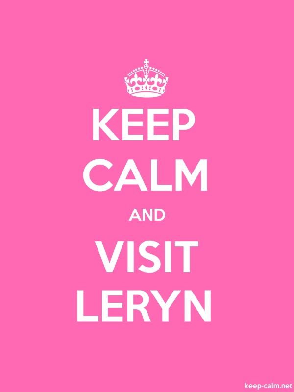 KEEP CALM AND VISIT LERYN - white/pink - Default (600x800)