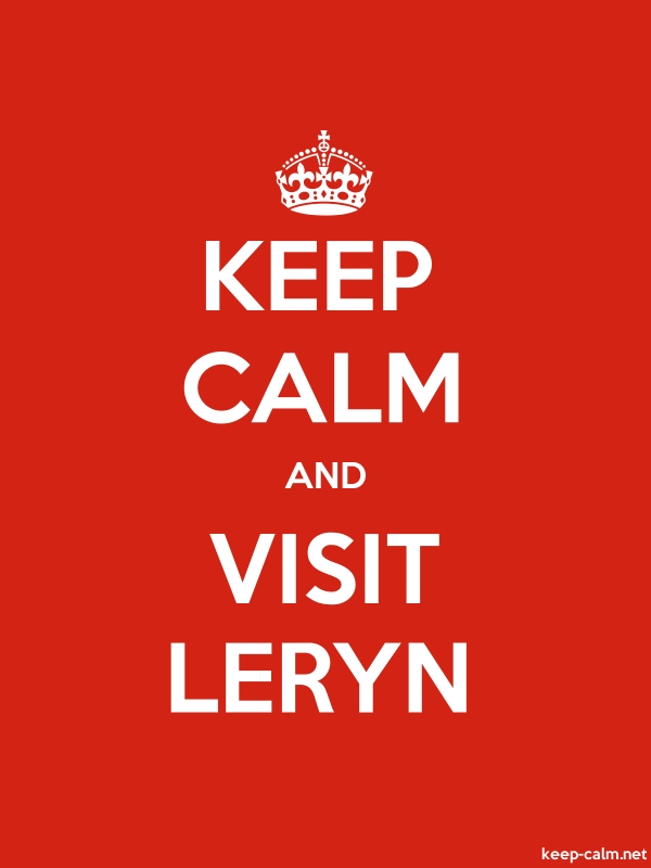 KEEP CALM AND VISIT LERYN - white/red - Default (600x800)