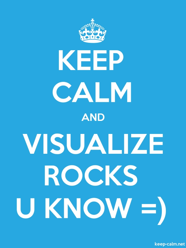 KEEP CALM AND VISUALIZE ROCKS U KNOW = - white/blue - Default (600x800)