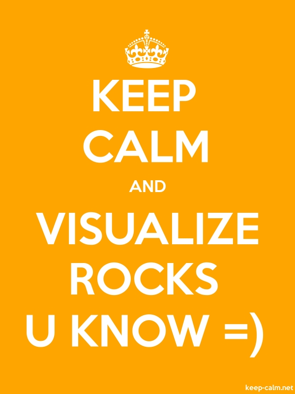 KEEP CALM AND VISUALIZE ROCKS U KNOW = - white/orange - Default (600x800)