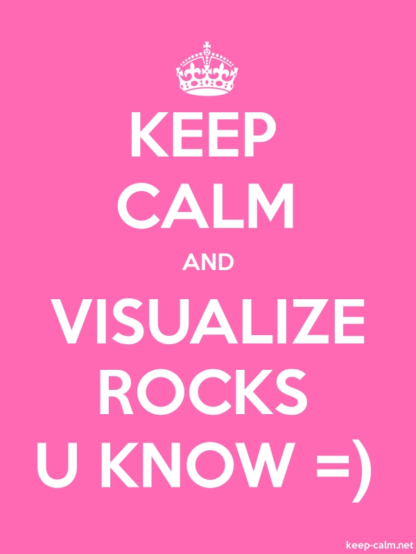 KEEP CALM AND VISUALIZE ROCKS U KNOW = - white/pink - Default (600x800)