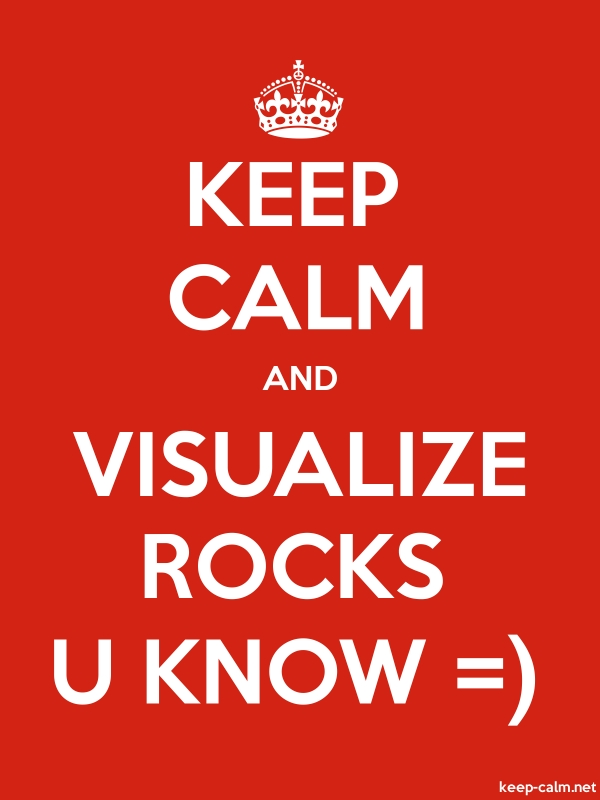KEEP CALM AND VISUALIZE ROCKS U KNOW = - white/red - Default (600x800)