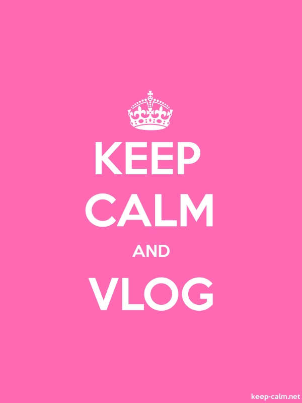 KEEP CALM AND VLOG - white/pink - Default (600x800)