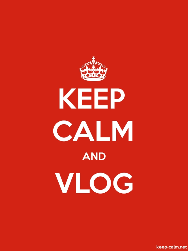 KEEP CALM AND VLOG - white/red - Default (600x800)