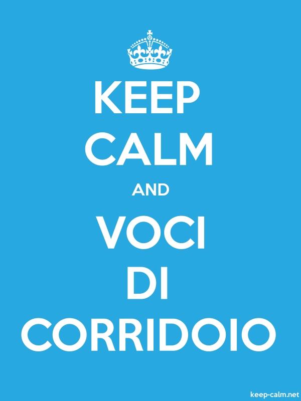 KEEP CALM AND VOCI DI CORRIDOIO - white/blue - Default (600x800)