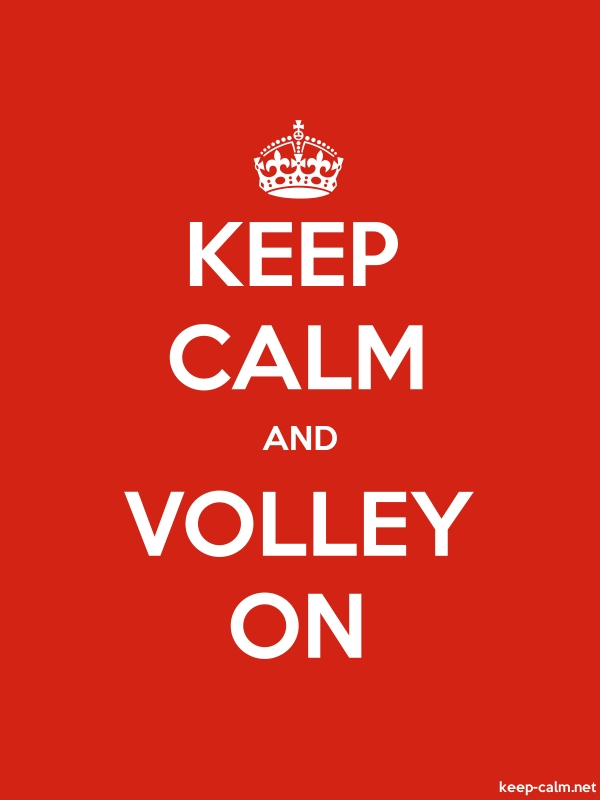 KEEP CALM AND VOLLEY ON - white/red - Default (600x800)