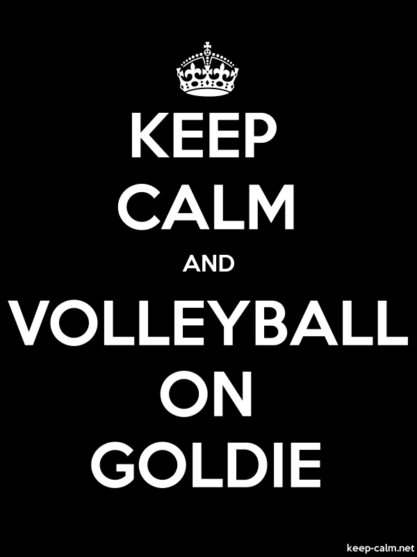 KEEP CALM AND VOLLEYBALL ON GOLDIE - white/black - Default (600x800)