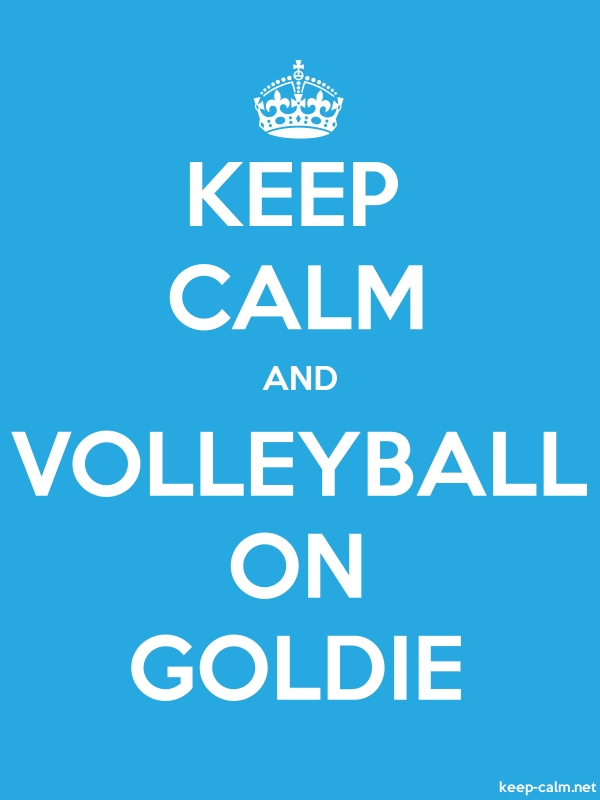 KEEP CALM AND VOLLEYBALL ON GOLDIE - white/blue - Default (600x800)