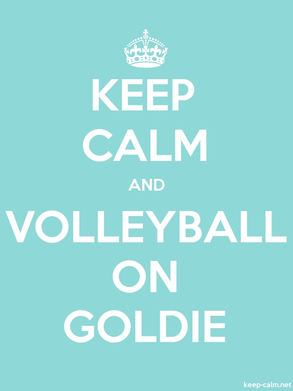 KEEP CALM AND VOLLEYBALL ON GOLDIE - white/lightblue - Default (600x800)