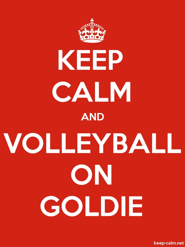KEEP CALM AND VOLLEYBALL ON GOLDIE - white/red - Default (600x800)