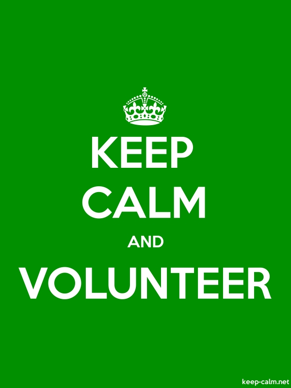 KEEP CALM AND VOLUNTEER - white/green - Default (600x800)
