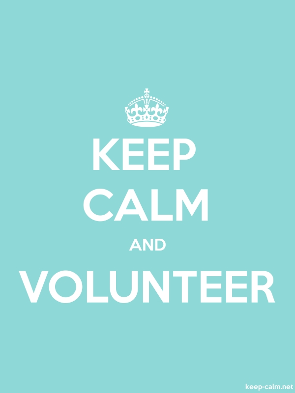 KEEP CALM AND VOLUNTEER - white/lightblue - Default (600x800)