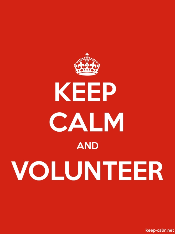 KEEP CALM AND VOLUNTEER - white/red - Default (600x800)