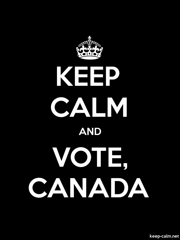KEEP CALM AND VOTE, CANADA - white/black - Default (600x800)