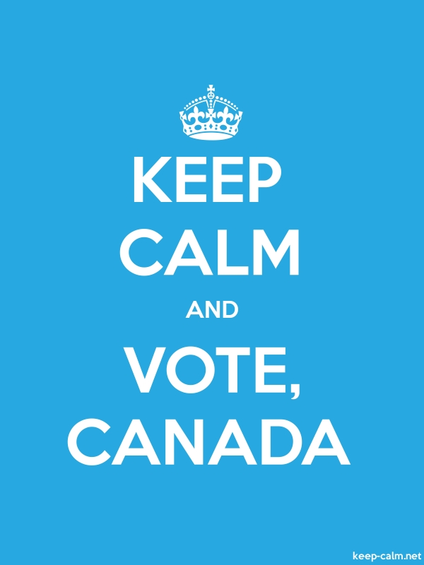 KEEP CALM AND VOTE, CANADA - white/blue - Default (600x800)