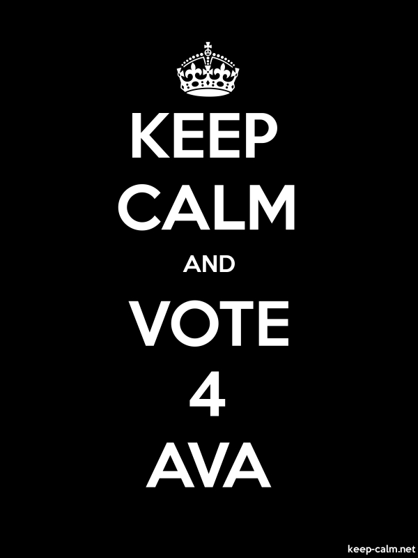KEEP CALM AND VOTE 4 AVA - white/black - Default (600x800)
