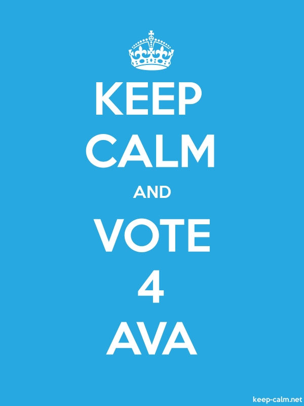KEEP CALM AND VOTE 4 AVA - white/blue - Default (600x800)