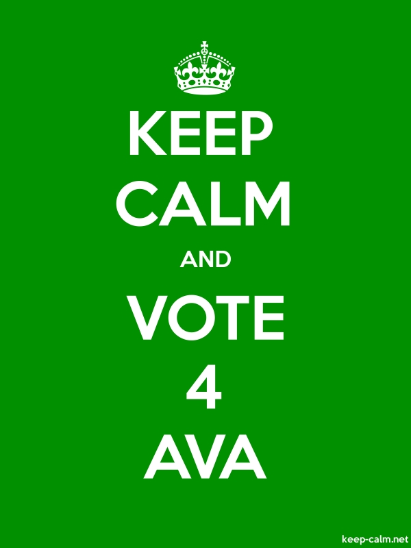 KEEP CALM AND VOTE 4 AVA - white/green - Default (600x800)