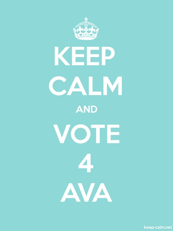 KEEP CALM AND VOTE 4 AVA - white/lightblue - Default (600x800)