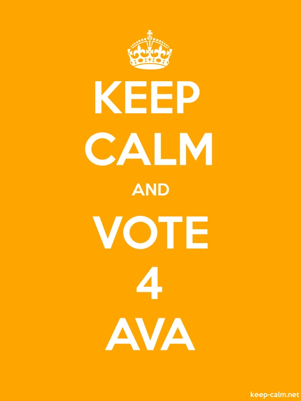 KEEP CALM AND VOTE 4 AVA - white/orange - Default (600x800)