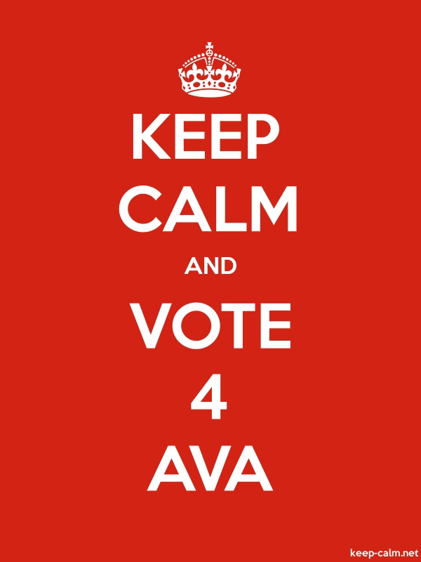 KEEP CALM AND VOTE 4 AVA - white/red - Default (600x800)