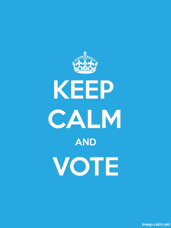 KEEP CALM AND VOTE - white/blue - Default (600x800)