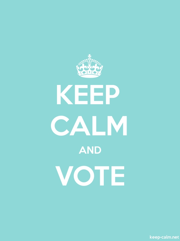 KEEP CALM AND VOTE - white/lightblue - Default (600x800)