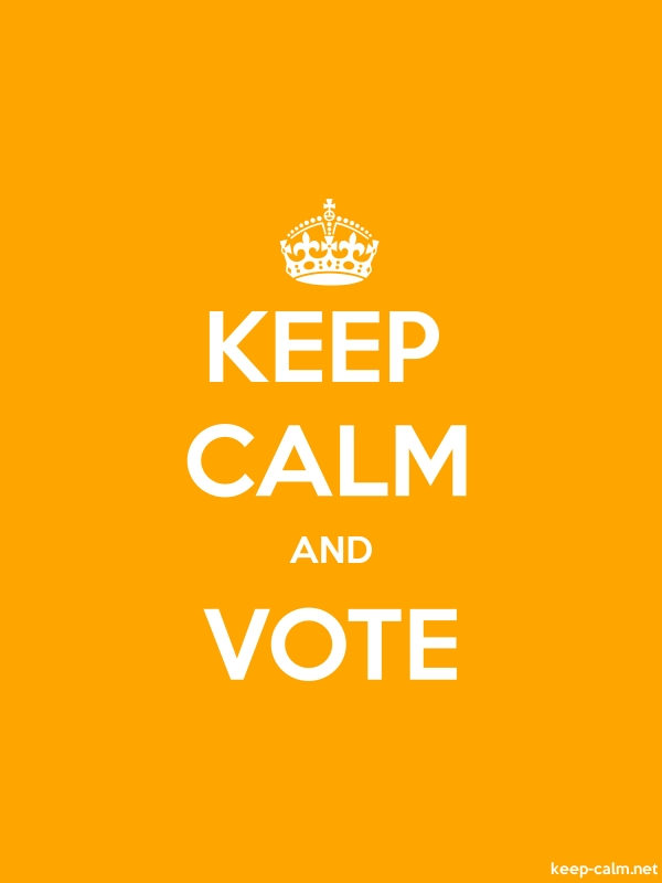 KEEP CALM AND VOTE - white/orange - Default (600x800)